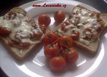 Toasty s rajčaty a mozarellou