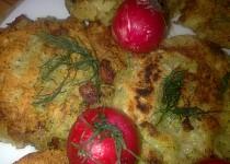 Placičky z  krůtího masa  a  zeleniny /co zůstalo od víkendu/