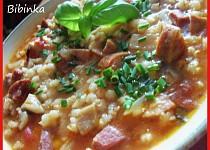 Dobrá hustá polévka s hlívou ústřičnou a kroupami