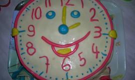 Hodinový dort pro děti