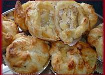 Lístkové muffinky s jablíčkem