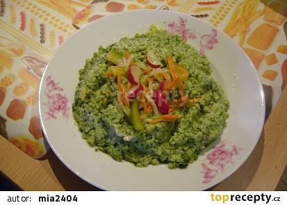 Špenátové rizoto se sýrem
