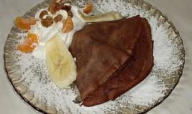 Zapečené čokoládové palačinky s jemnou náplní