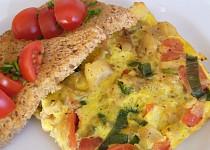 Zapečené filé s rajčaty a vejci