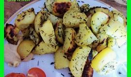 Zapečené přílohové brambory s Texas kořením a bylinkama