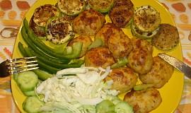Grilované cukety a opékané brambory