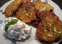 Cuketovo - kedlubnové placičky s tvarohovou salsou