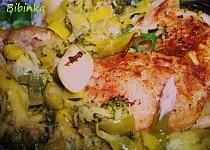Zelené kuřátko pečené se zázvorem