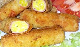 Šunkové rolky s vajíčky a sýrem