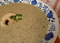 Žampionovo-pórková polévka