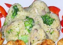 Kuskus s brokolicí a žampiony