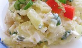 Zapečené brambory s nakládaným celerem