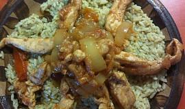 Kuřecí nudličky s petrželkovou rýží