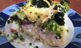 Zapečená rýže s brokolicí