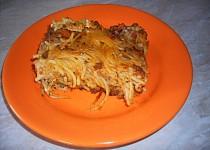 Zapečené špagety s mletým masem
