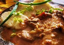 Španělské vepřové maso ve smetanové omáčce