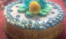 Výborný vanilkový dortík