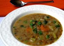 Celerovo-čočková  polévka s čubricou