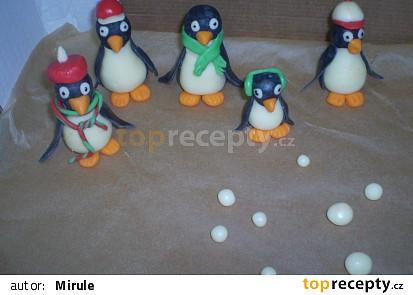 Tučňáci na dort