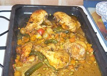 Kuře bez tuku se zeleninou