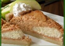 Listový jablkový koláč se zakysankou