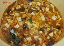 Hrstková houbová polévka s krupičkou