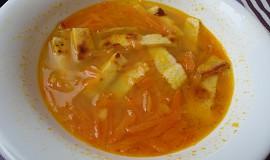 Mrkvová polévka s celestýnskými nudlemi