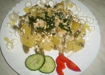 Zapečený pangasius s brambory a cotagge sýrem