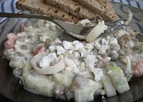 Čočkový salát s balkánským sýrem