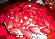 Jahodové srdce s kakaem