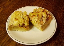 Bramborový koláč- natřesený