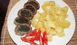 Špenátová roláda z mletého masa
