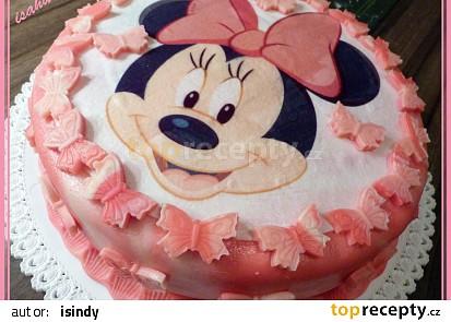 Motýlí dort s Mickey Minnie