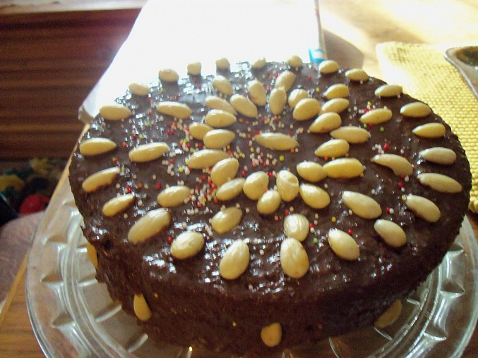 Pudinkový dortík s čokoládou a mandlemi, Pudinkový dortík s čokoládou a mandlemi