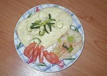 Parní hrnec - Kuřecí maso s pórkem a bram. kaší (můj vlastní recept)