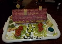 Slaný dort - chaloupka