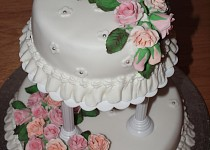 Růže - svatební dort