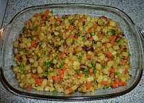 Pečené brambůrky se zeleninou