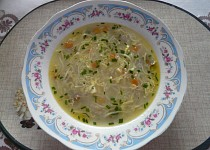 Polévka z kuřecích žaludků
