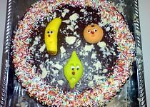 Čokoládovo-vanilkový dort