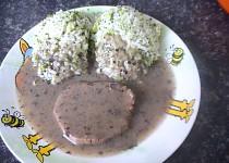 Brokolicová rýže s hovězím na houbách-dietně