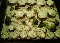 Plněné žampiony s brokolicí
