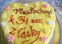 Domaci dort pro manzela k 34 narozkam (srdce)
