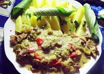 Kuřecí žaludky v brokolici