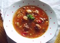 Vydatná polévka s opečenými masovými knedlíčky