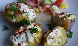 Plněné brambory s kuřecím masem