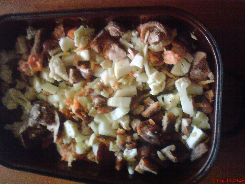 zelenina s houbami
