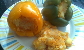 Zdravě plněné papriky