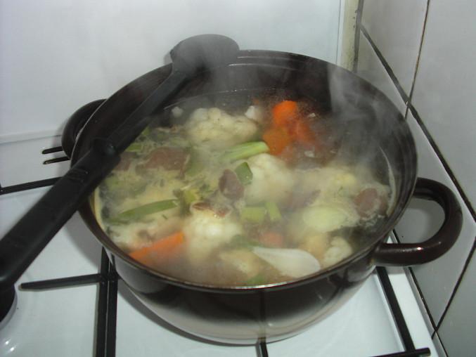 Polévka při vaření:-)