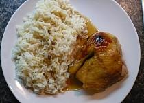 Pečené kuře s medem a jablky